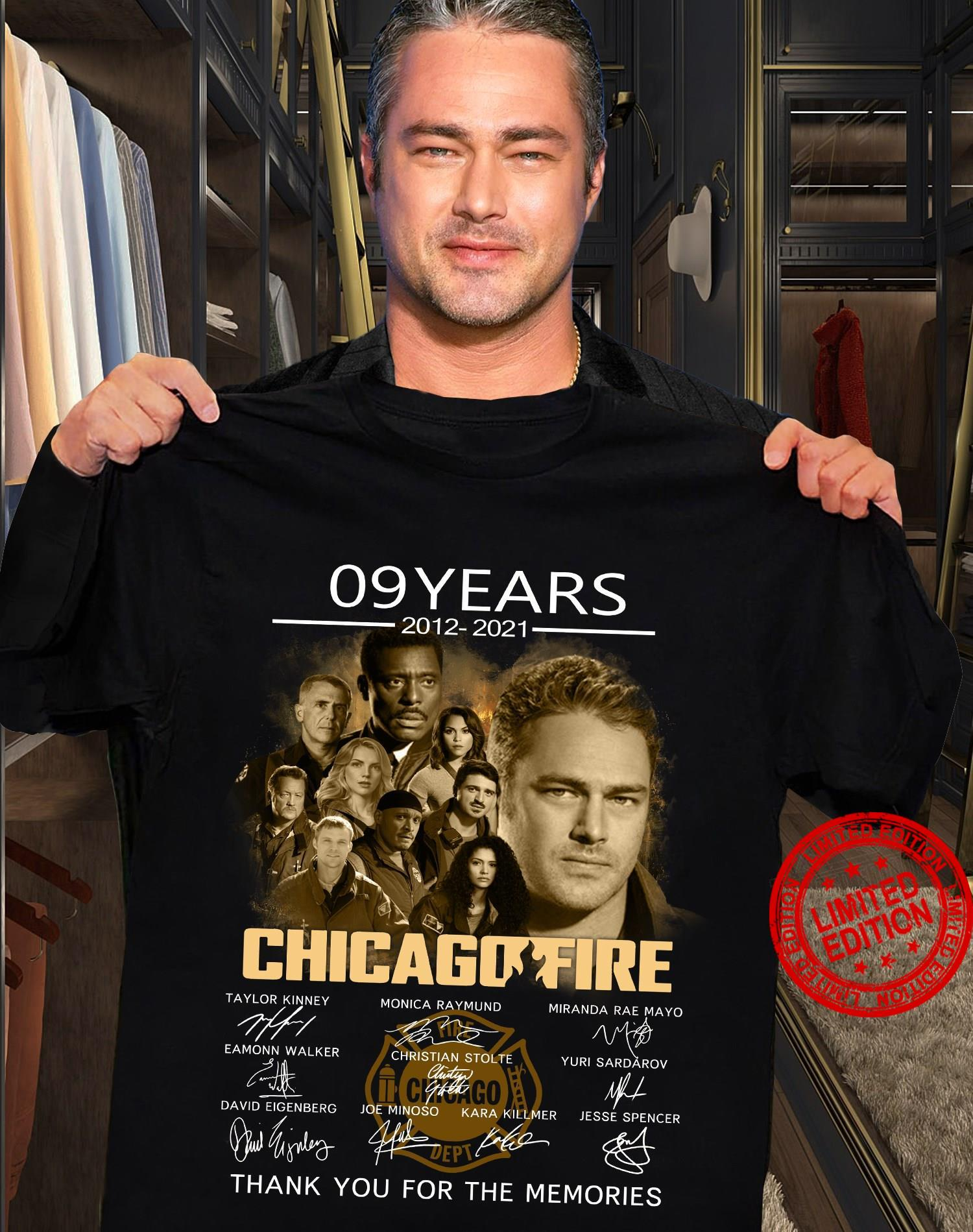 09 Years 2012 2021 Chicagofire Thank You For The Memories Shirt