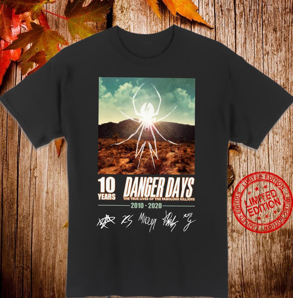 10 years Dancer days the true lives of the fabulous killjoys 2010 2020 shirt