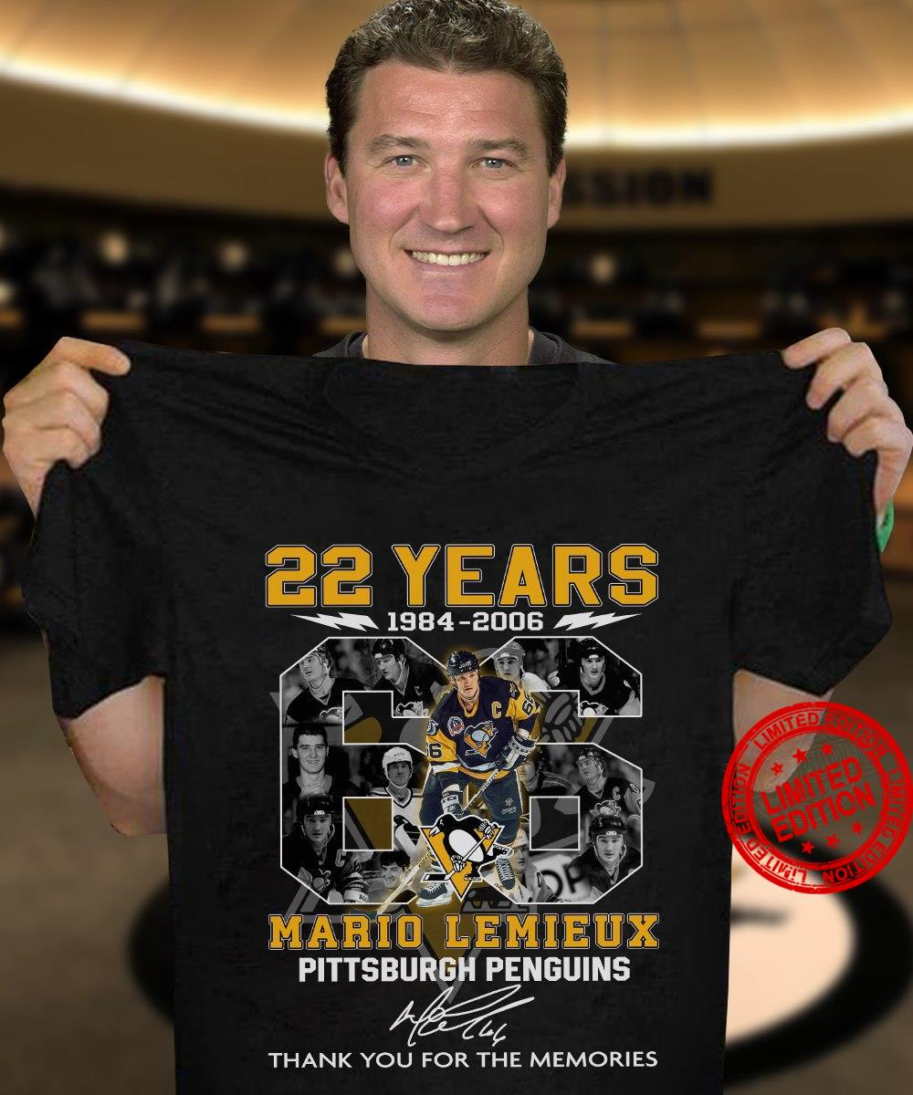 22 Years 1984 2006 Mario Lemieux Pittsburgh Penguins Thank You For The Memories Shirt