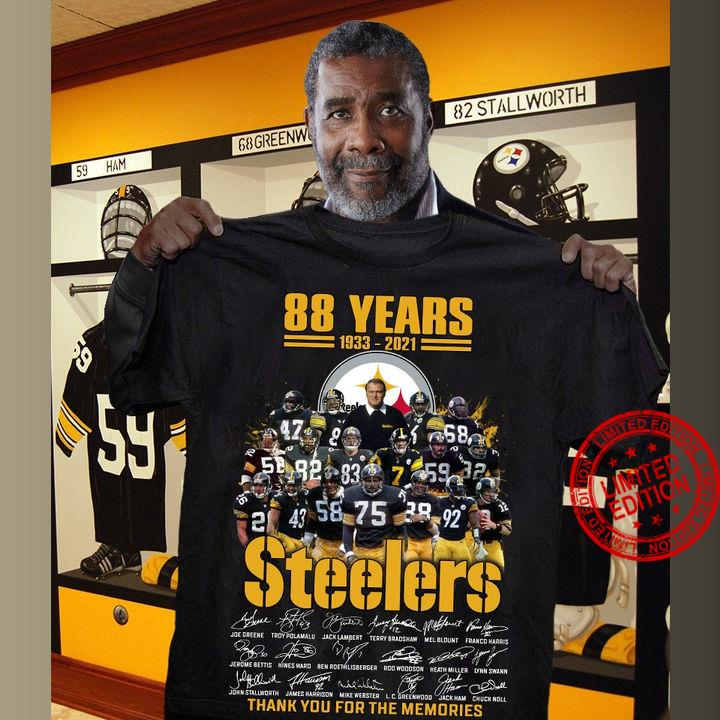88 Years Of 1933 2021 Steelers Thank You For The Memories Signatures Shirt