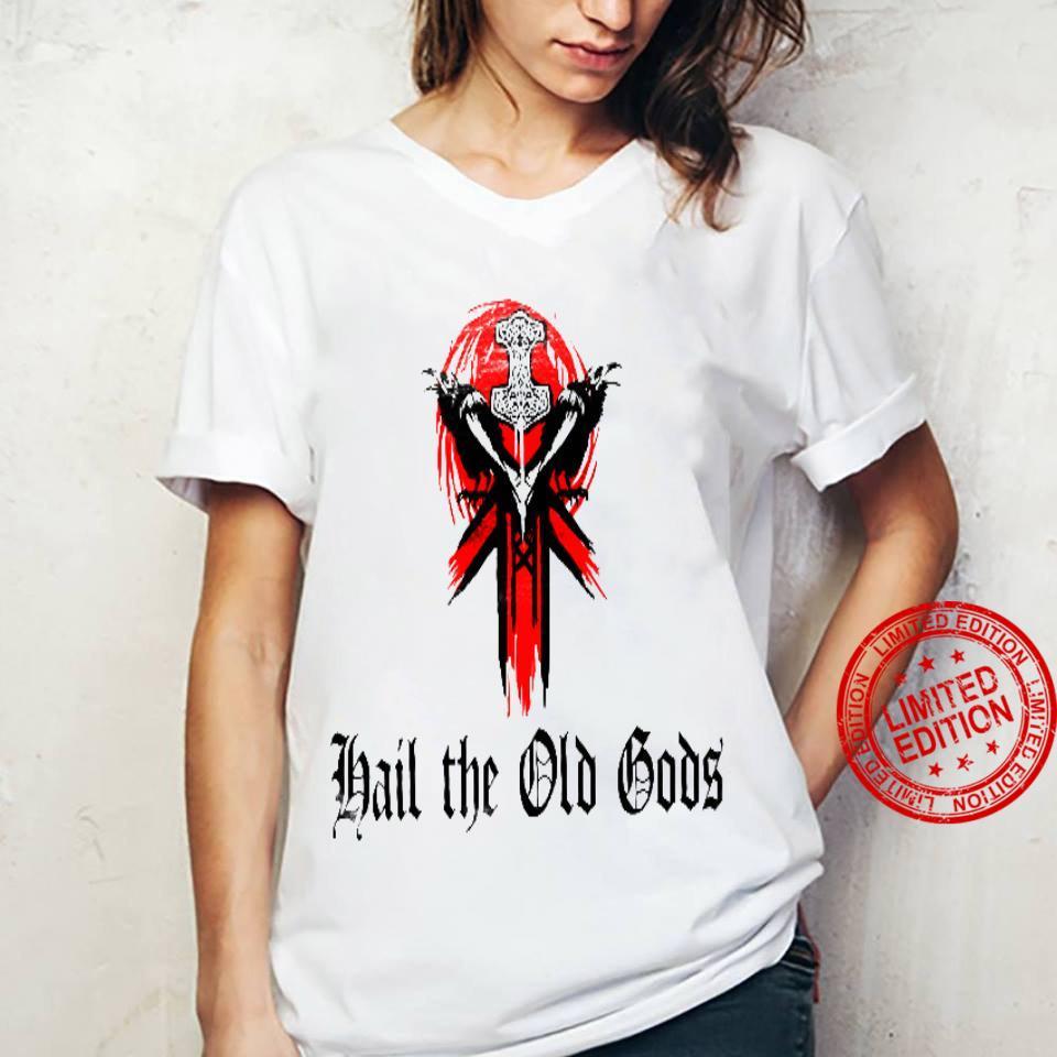 Hail The Old Gods White Shirt ladies tee