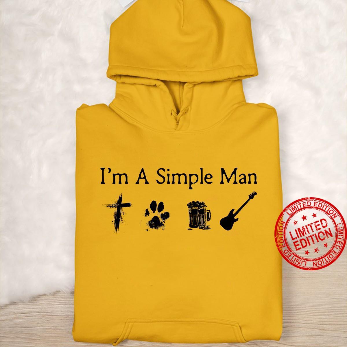 I'm A Simple Man I Like Jesus Dog Beer Guitar Shirt