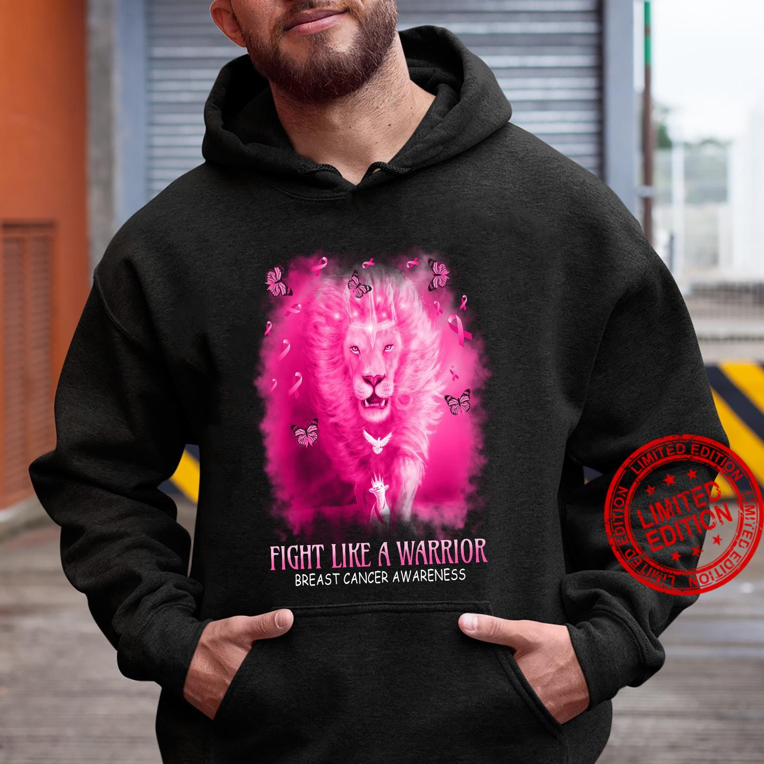 Lion Fight Like A Warrior Breast Cancer Awareness Shirt hoodie
