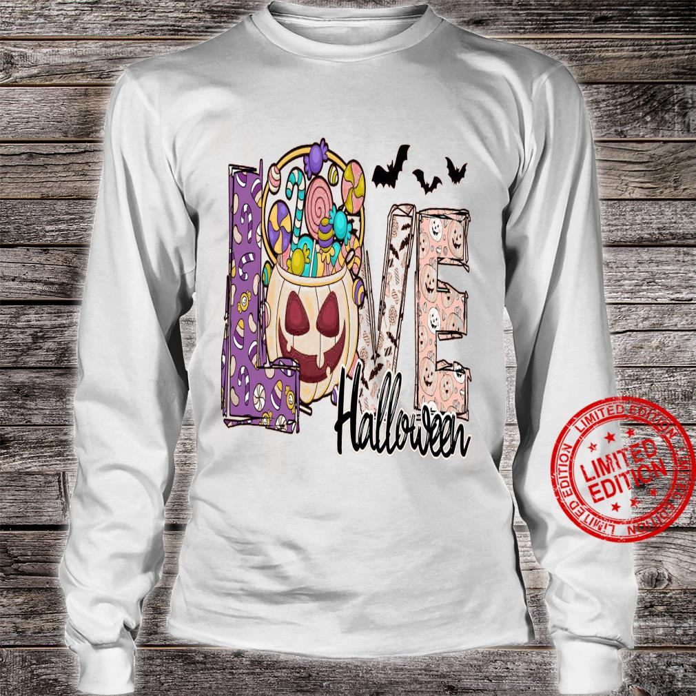 Love Halloween Shirt long sleeved
