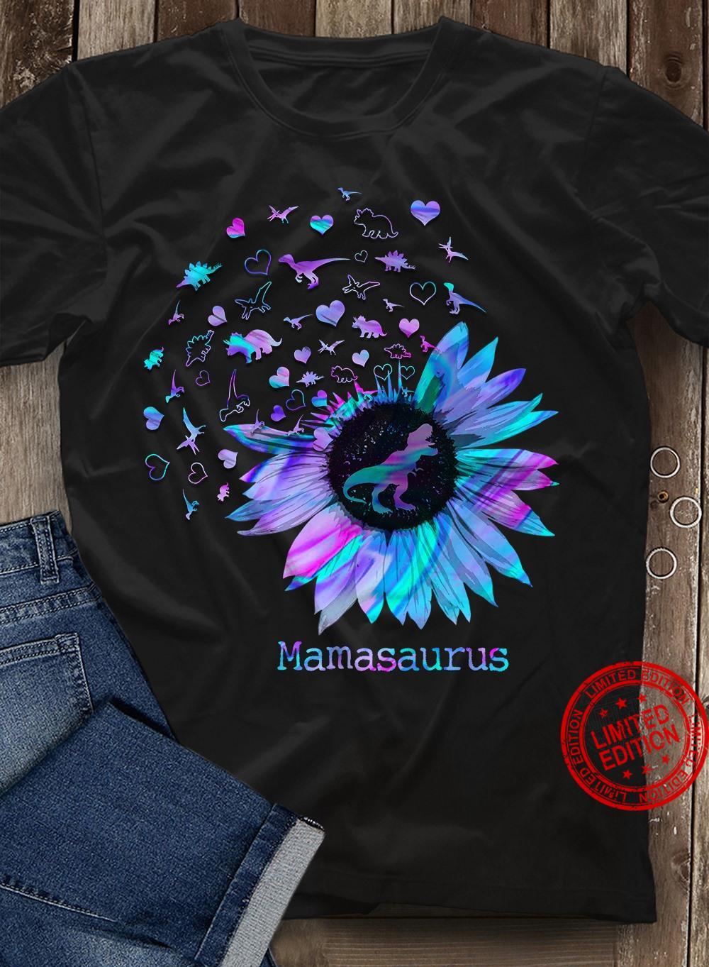 Mamasaurus Sunflower Shirt