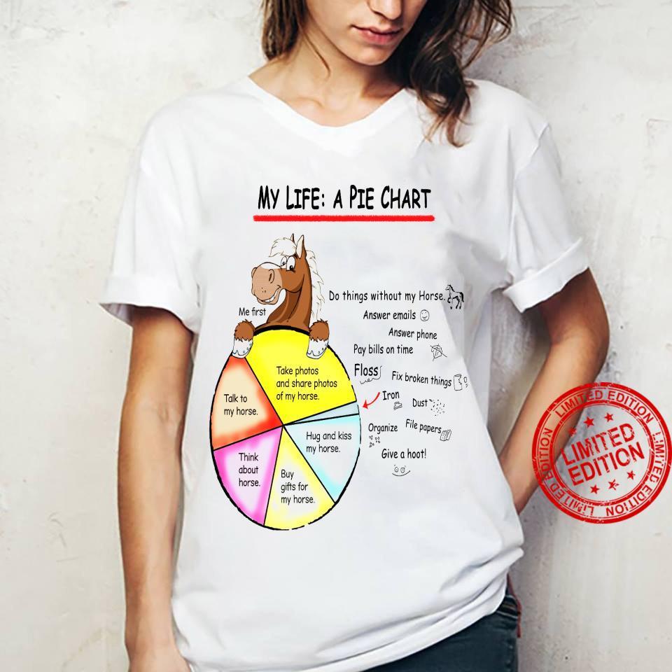 My Life A Pie Chart Shirt ladies tee