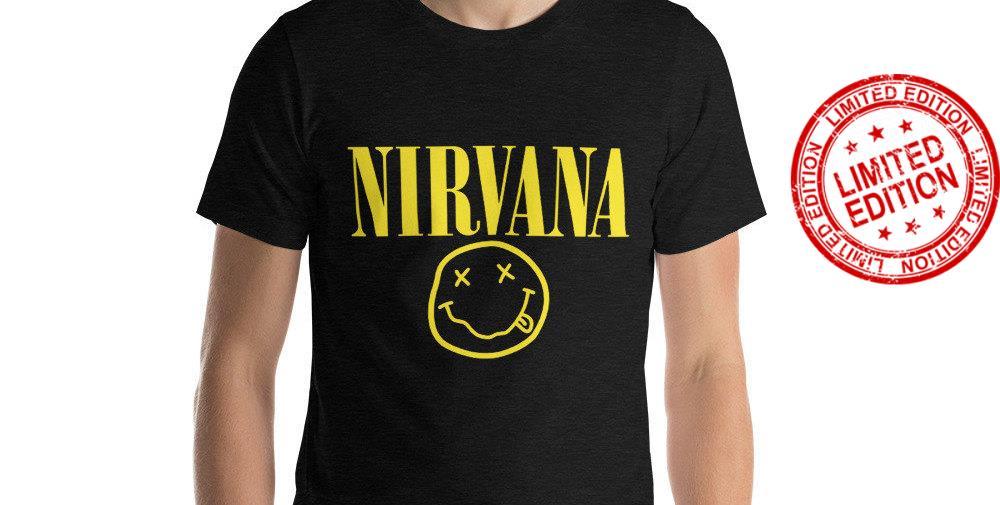 Nirvana Smiley Logo Kurt Cobain Rock Grunge Official Shirt