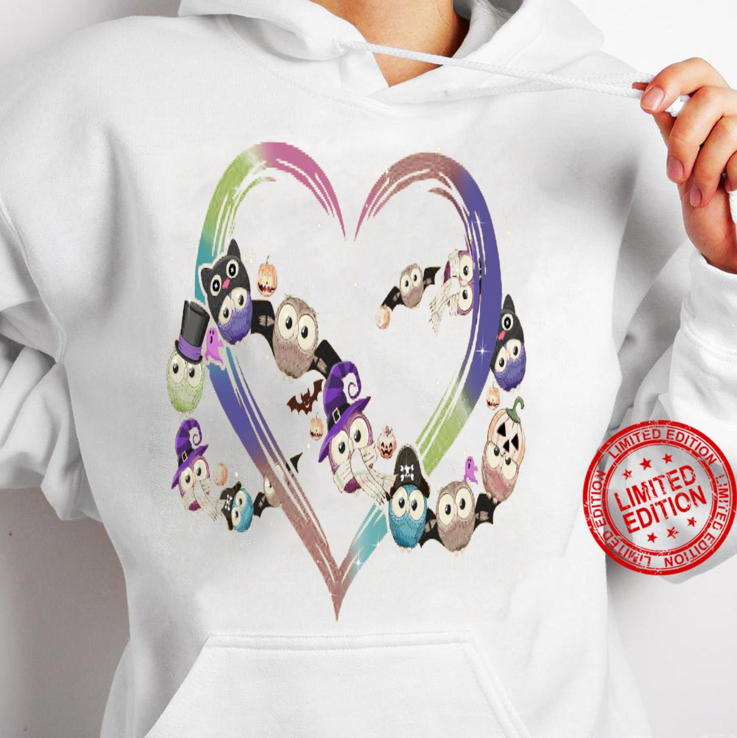Owl Heart Shirt hoodie