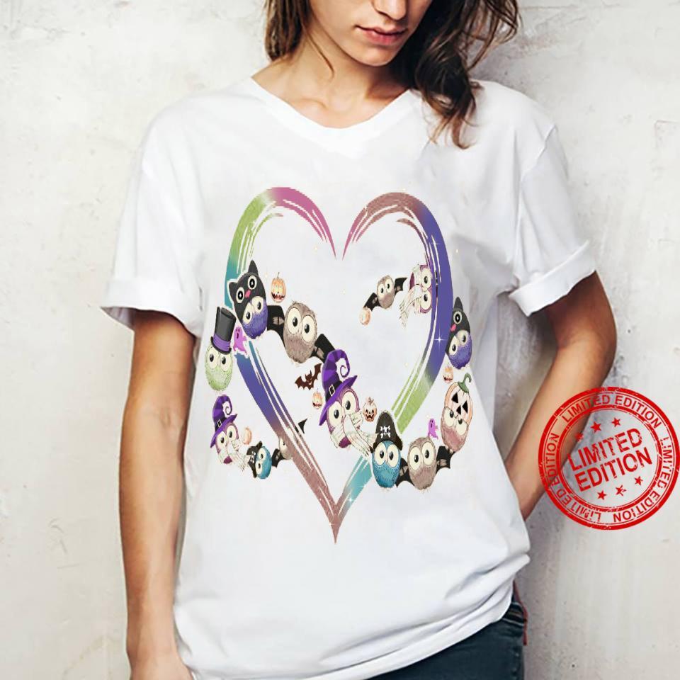 Owl Heart Shirt ladies tee