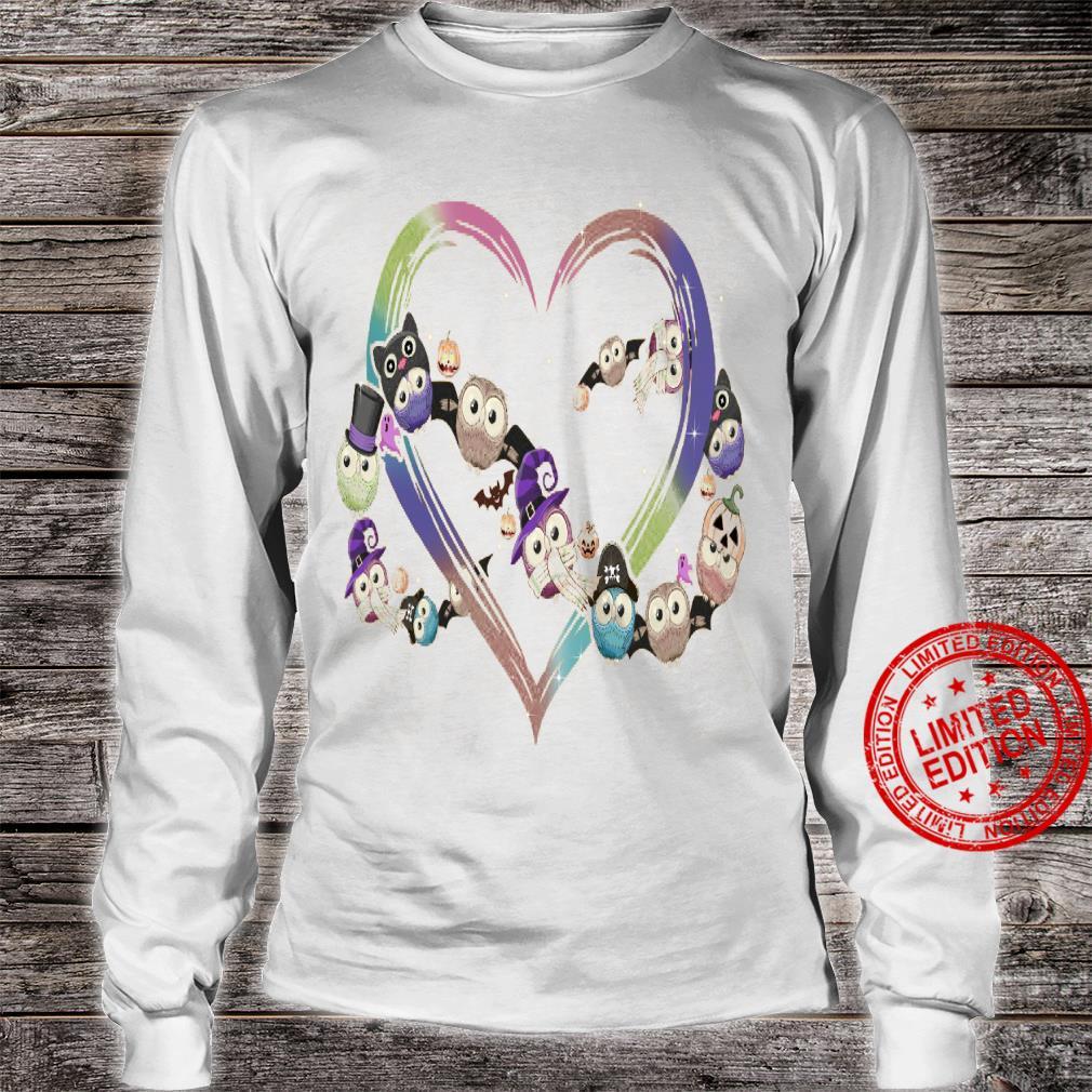 Owl Heart Shirt long sleeved