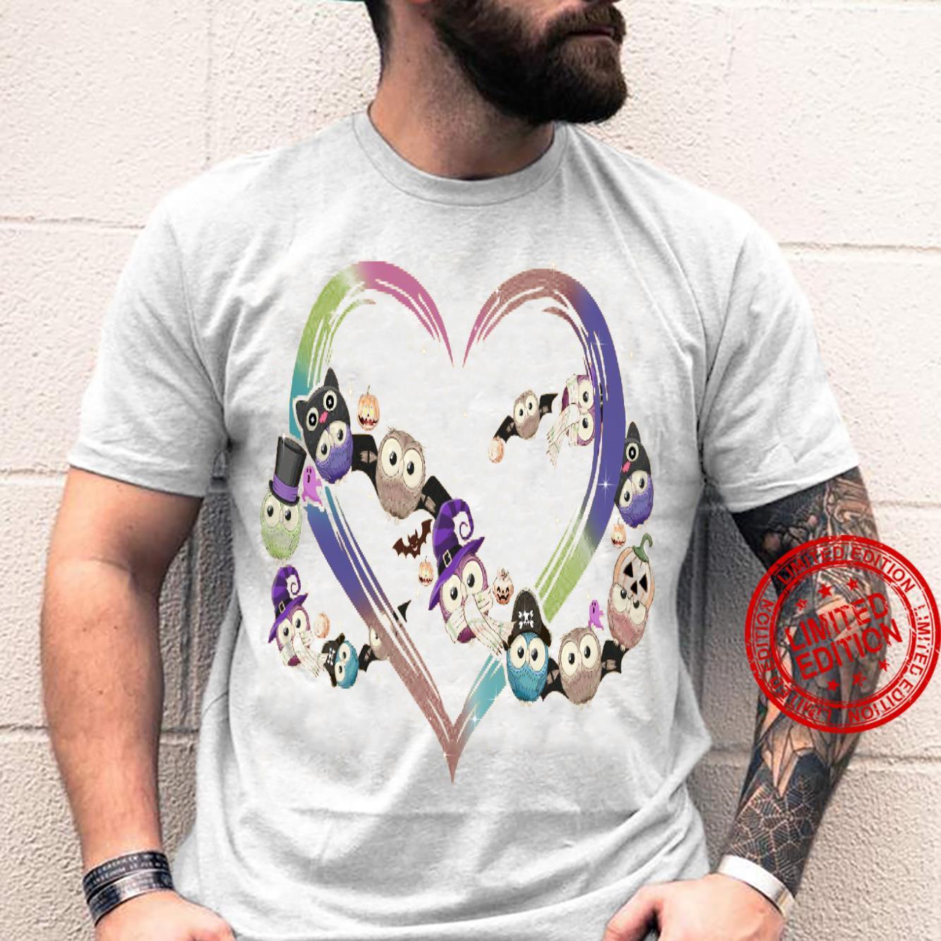 Owl Heart Shirt unisex