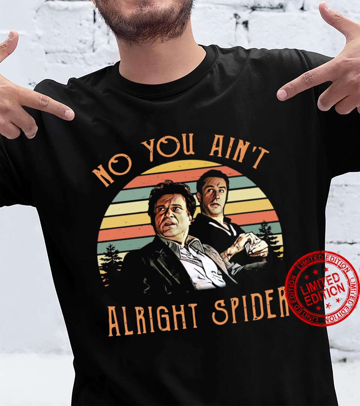 Retro Sunset Goodfellas Tommy DeVito Jimmy Conway no you ain't alright spider shirt