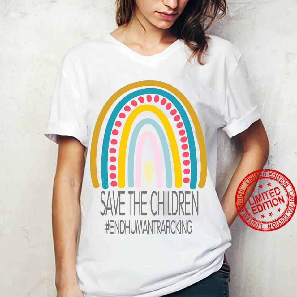 Save The Children End Human Trafficking Shirt ladies tee