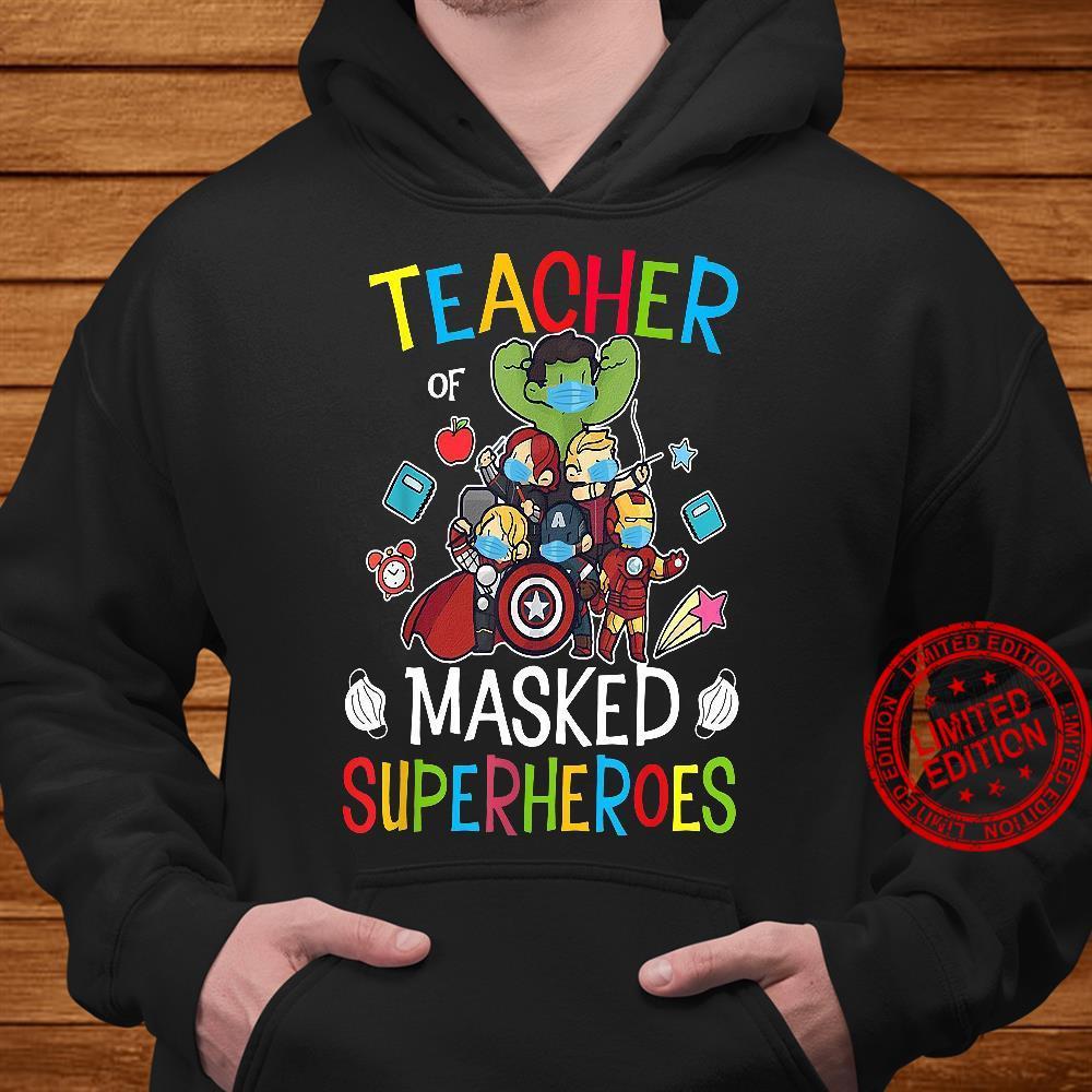 Teacher Masked Superheroes shirt hoodie