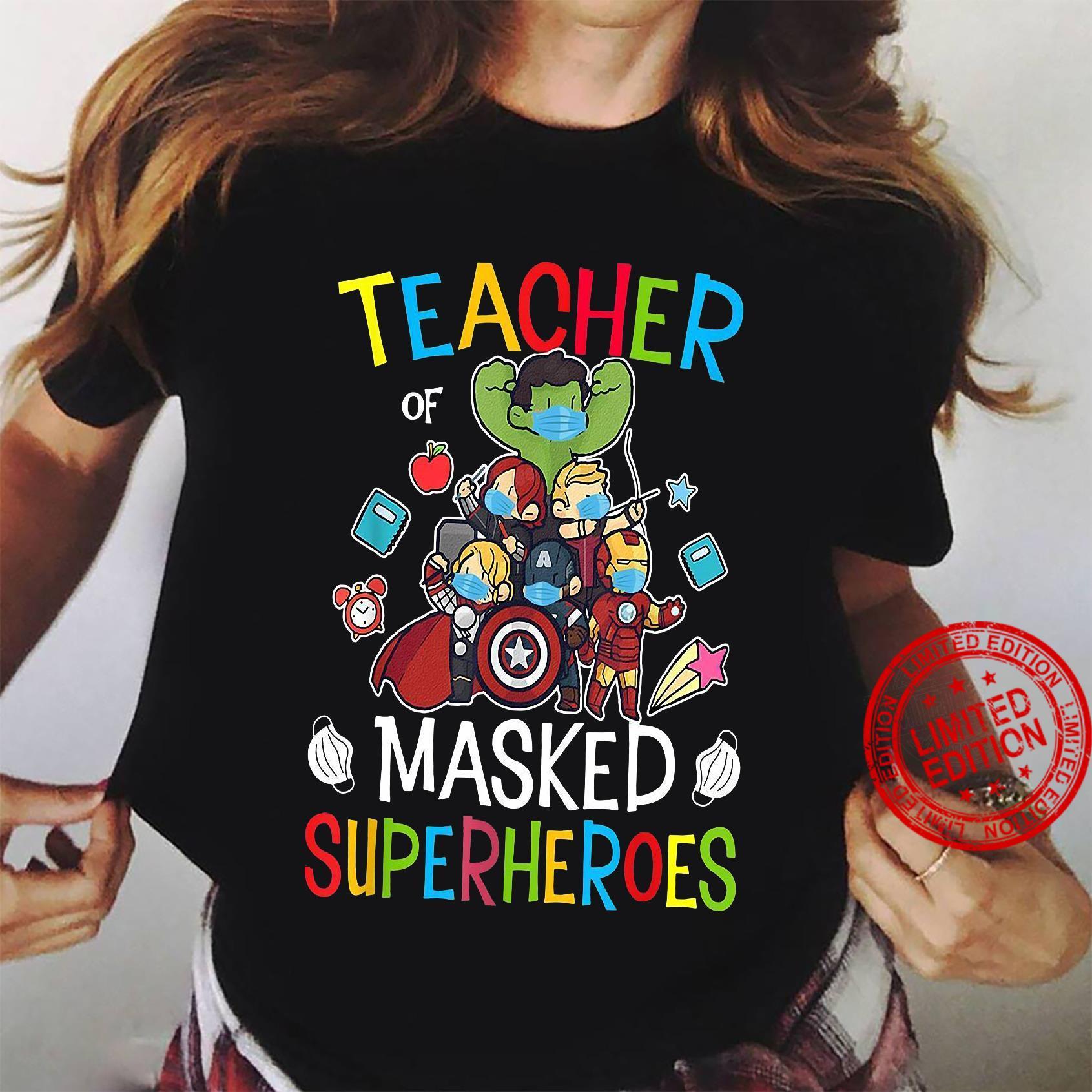 Teacher Masked Superheroes shirt ladies tee