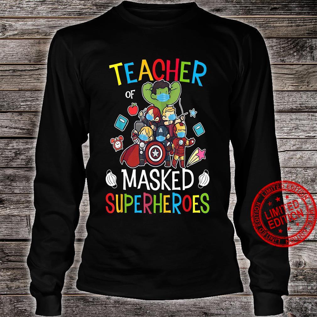 Teacher Masked Superheroes shirt long sleeved