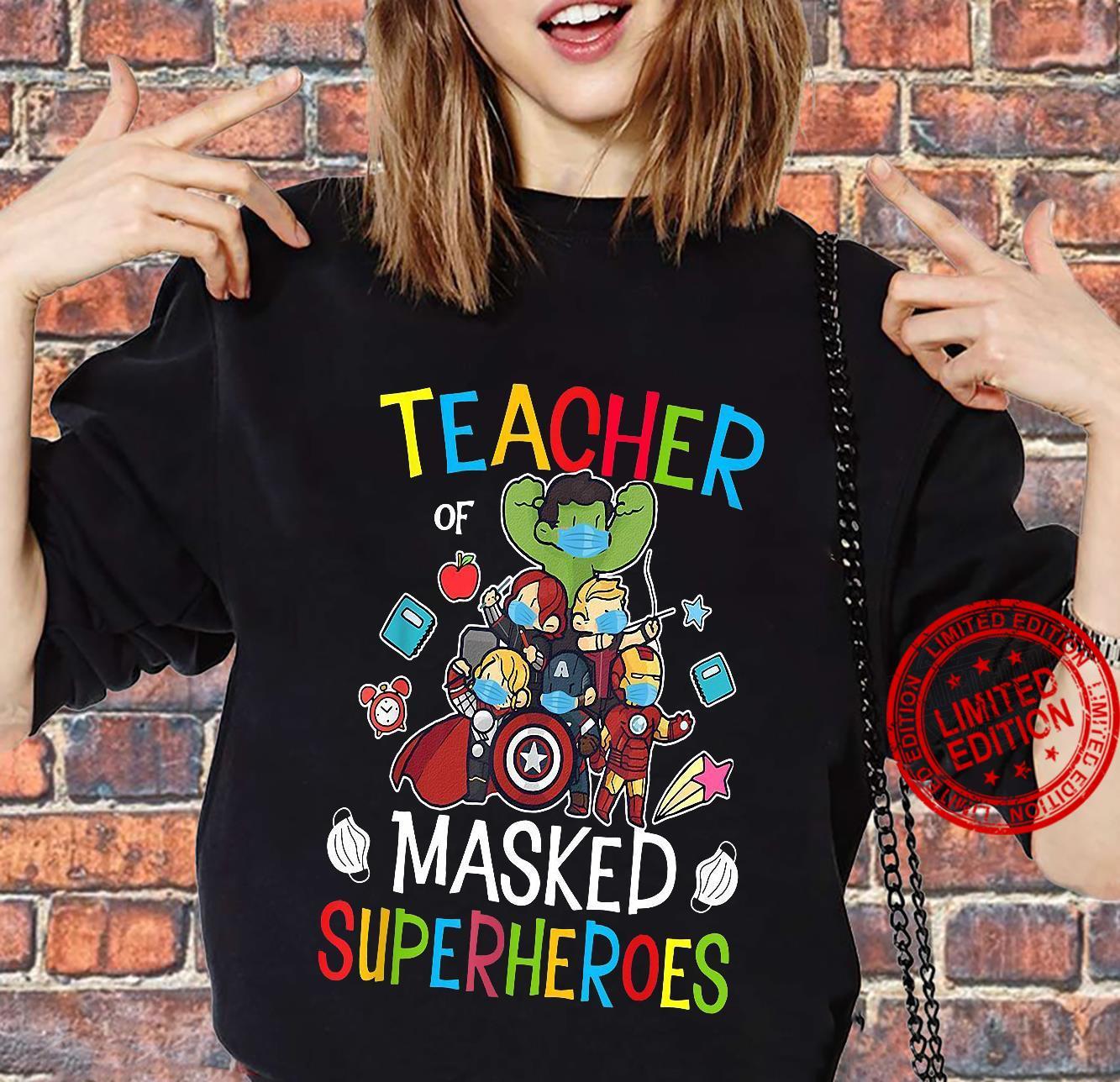 Teacher Masked Superheroes shirt sweater