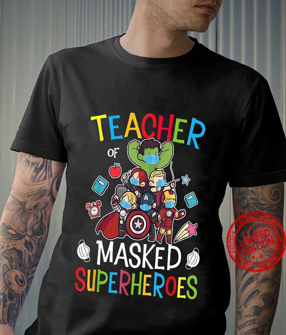 Teacher Masked Superheroes shirt