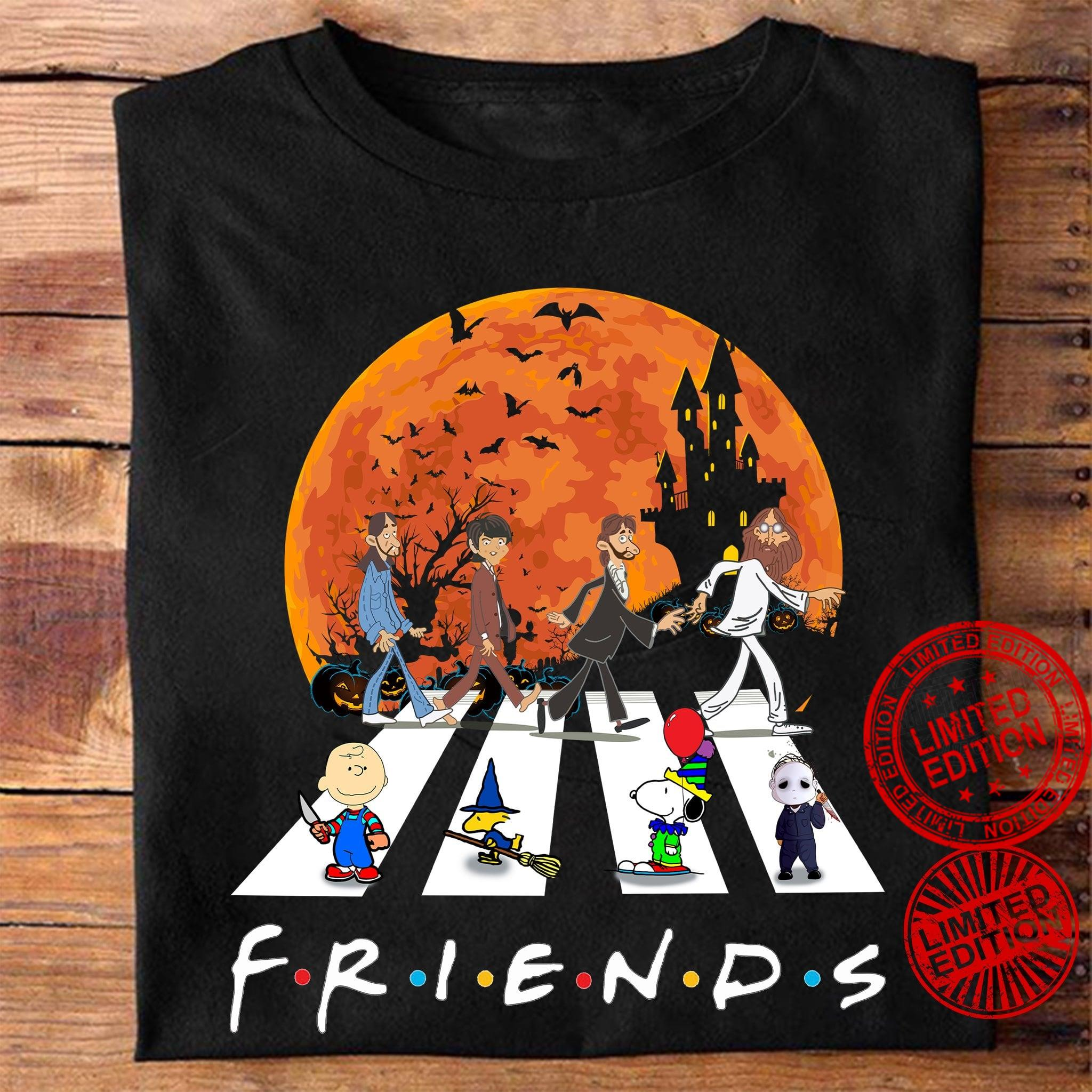 The Peanuts And The Beatles Friends Abbey Road Shirt