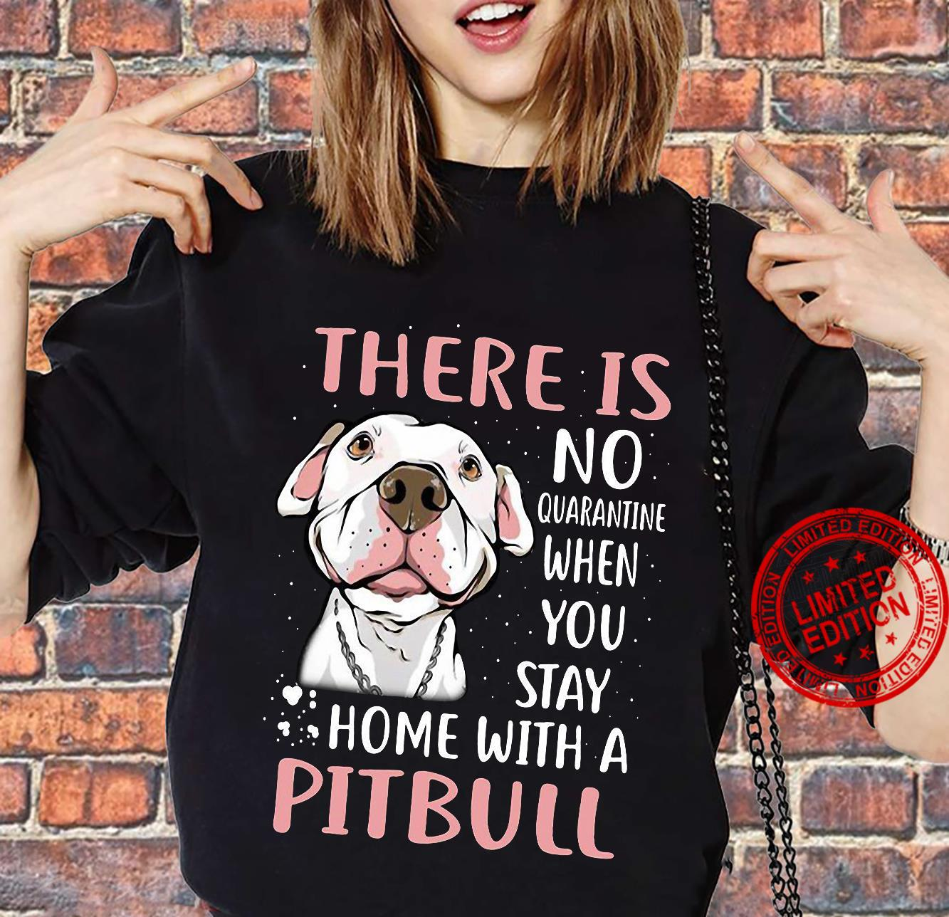 There Is No Quarantine When You Stay Home With A Pitbull Shirt sweater