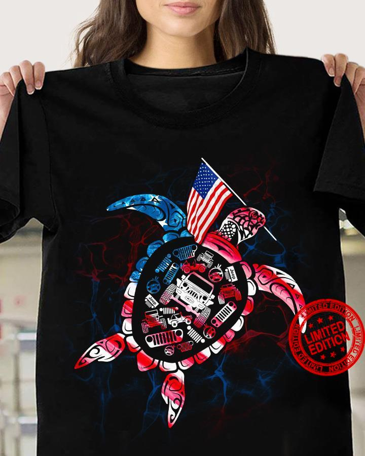 Tutles Jeep Happy Independence Day 4th July Shirt