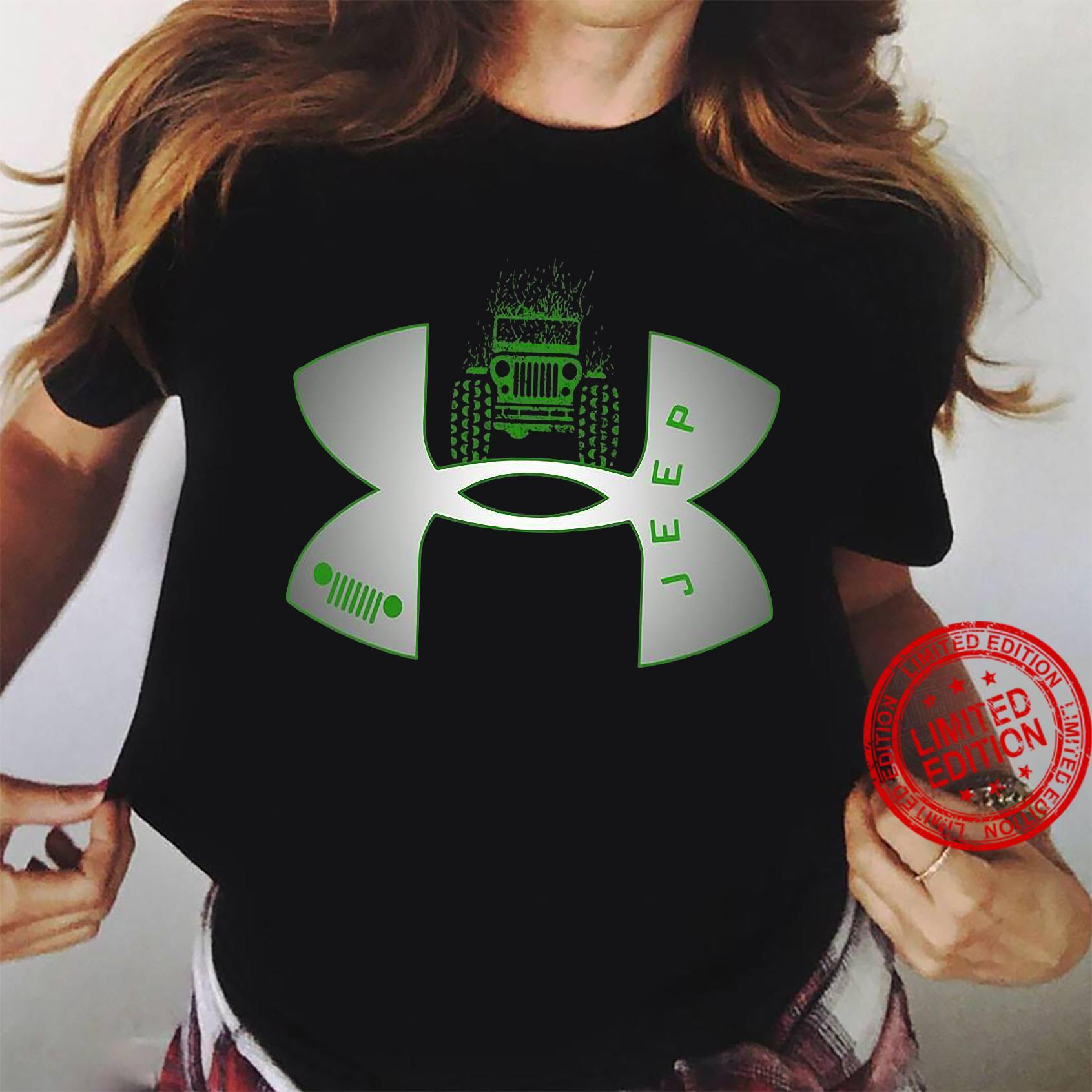 Under Armour Logo Green Jeep Shirt ladies tee
