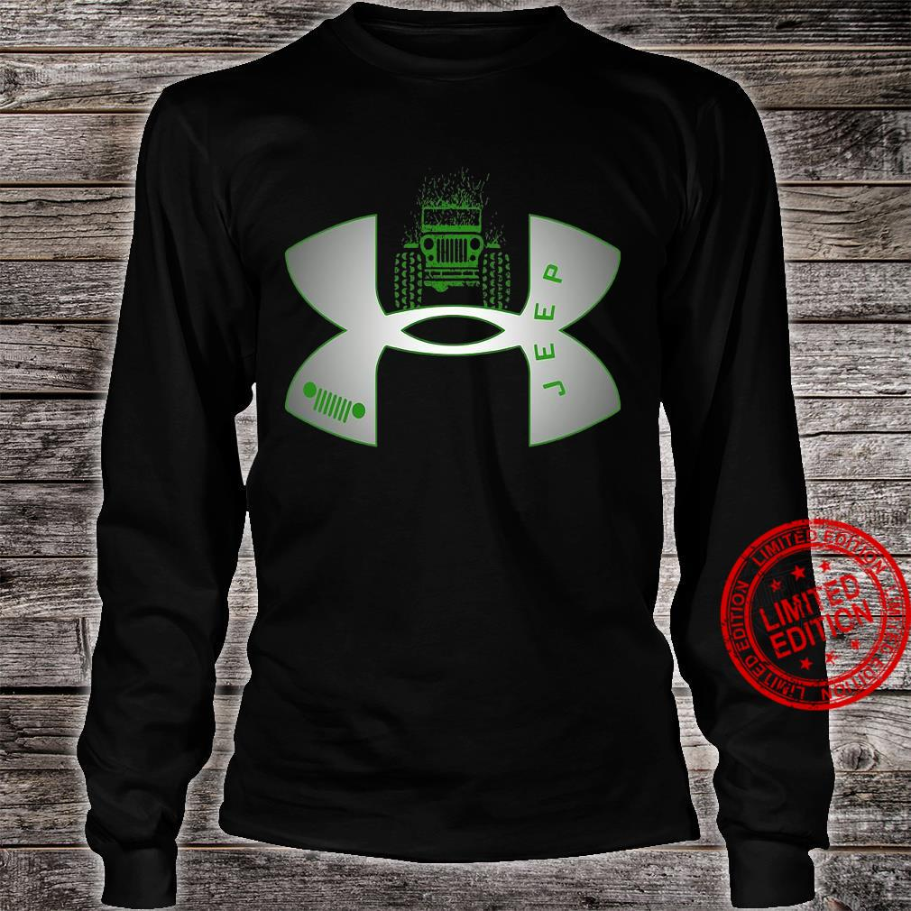 Under Armour Logo Green Jeep Shirt long sleeved
