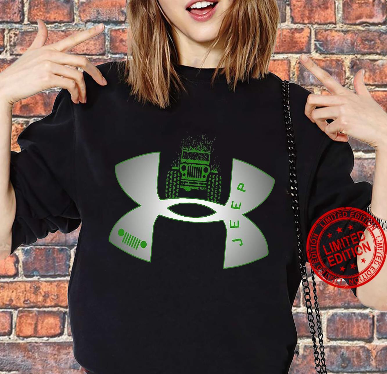 Under Armour Logo Green Jeep Shirt sweater