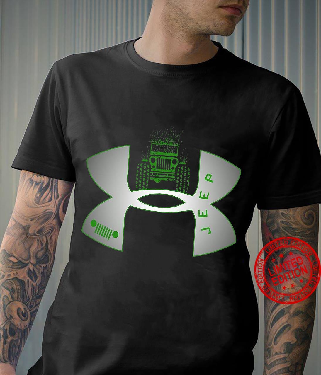 Under Armour Logo Green Jeep Shirt