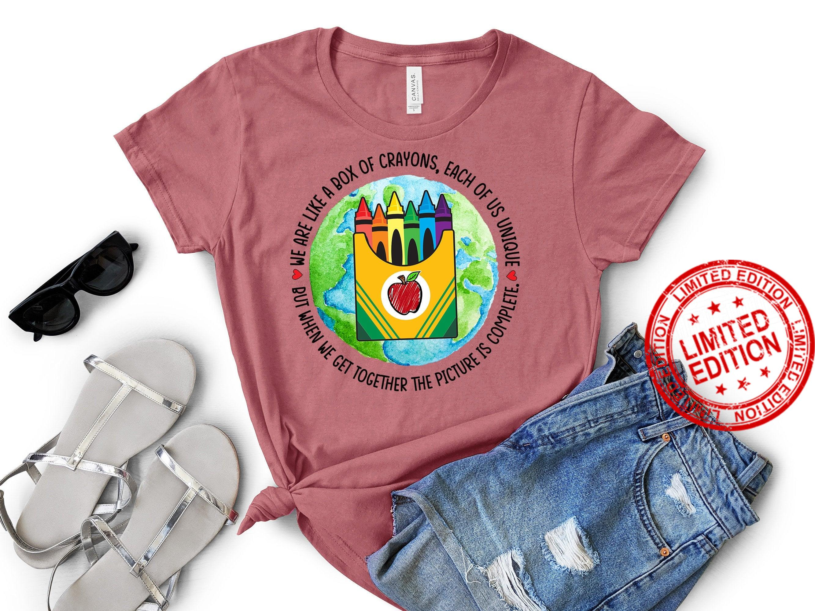 We Like A Box Of Crayons Teacher Shirt