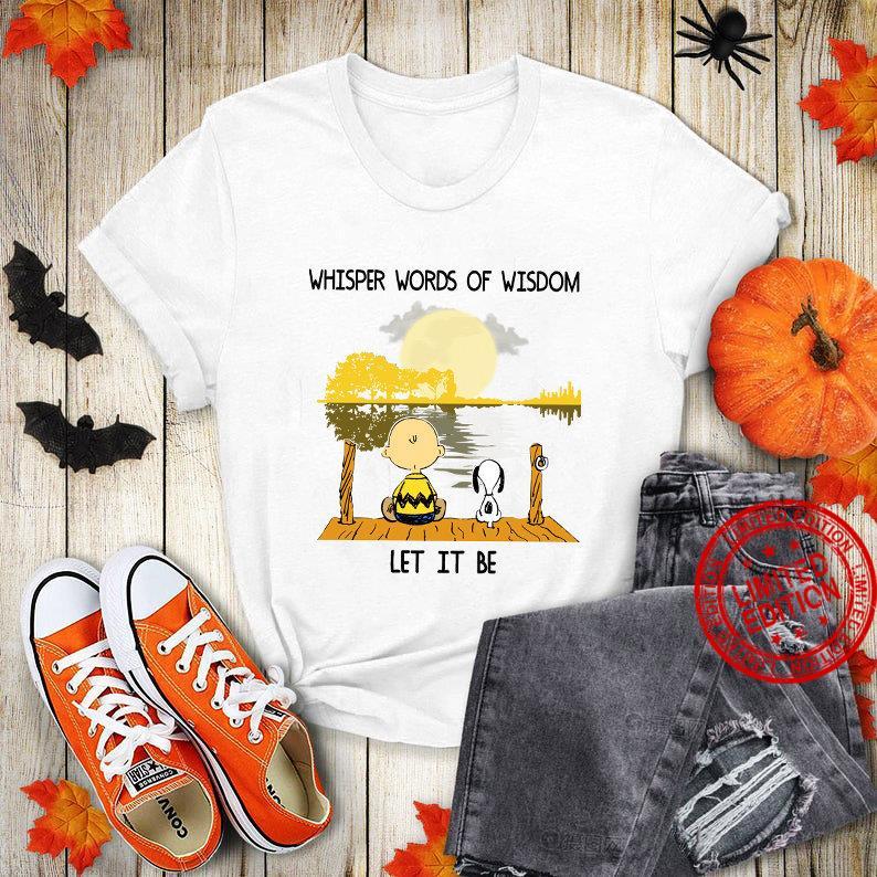 Whisper words of wisdom let it be , Halloween Shirt