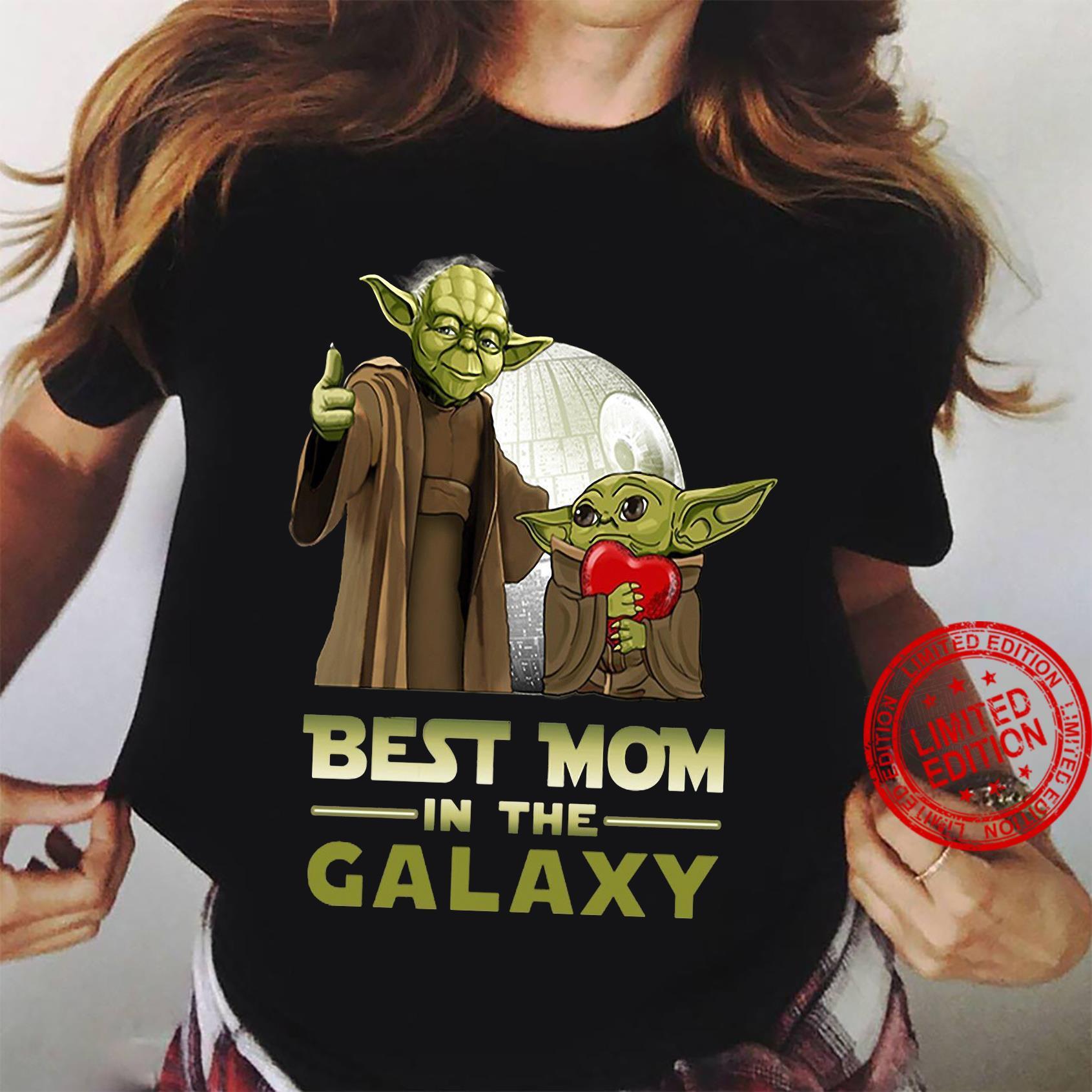 Yoda best mom in the galaxy shirt ladies tee