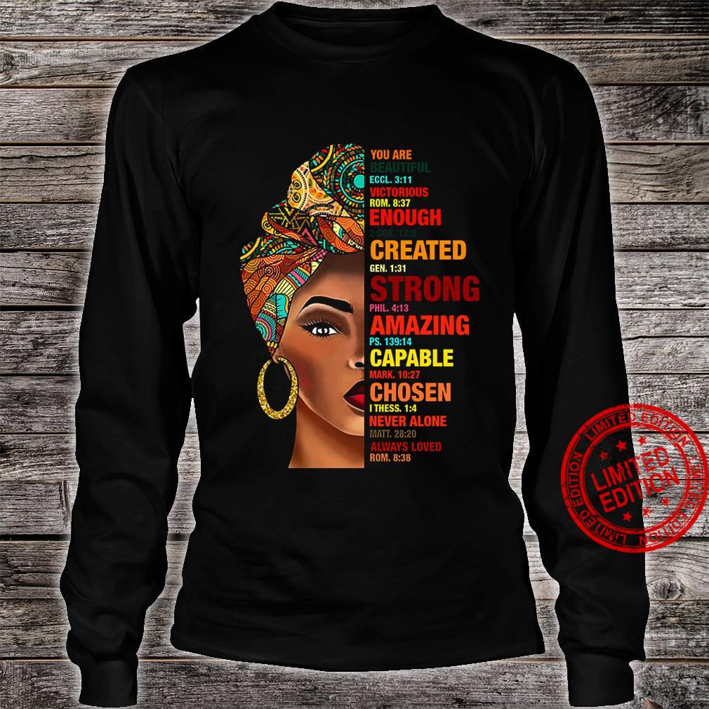 You Are Beautiful Eccl 3 11 Victorious Rom 8 37 Enough Created Strong Capable Chosen Shirt long sleeved