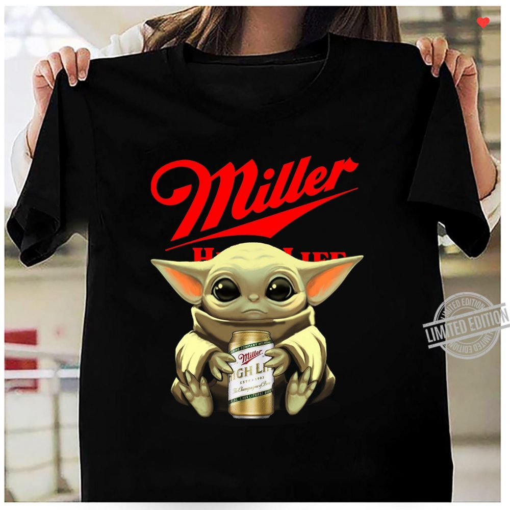 Baby Yoda Hug Miller High Life Shirt