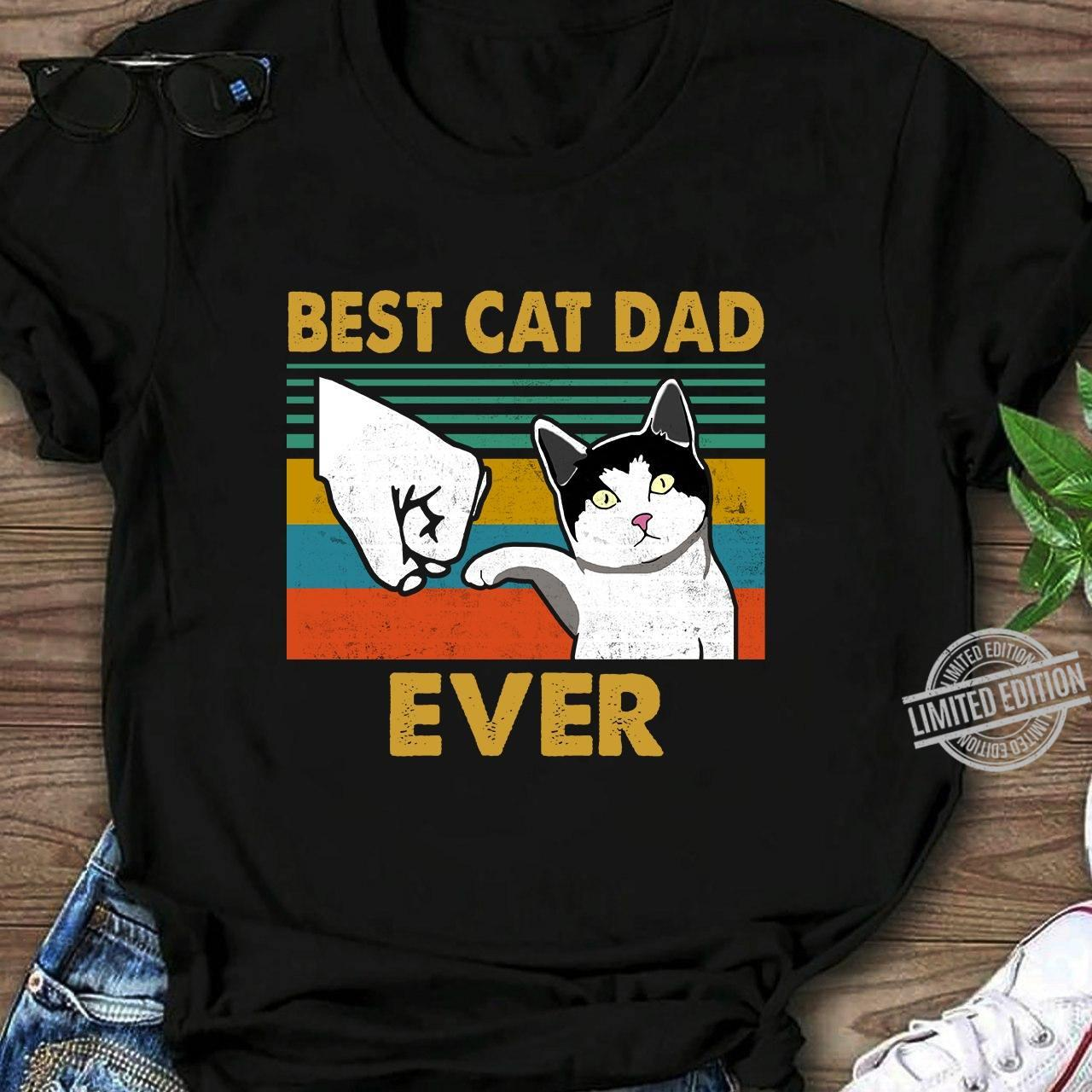 Amazon.com: Best Cat Dad Ever T-Shirt Funny Cat Daddy Father Day Gift T- Shirt: Clothing