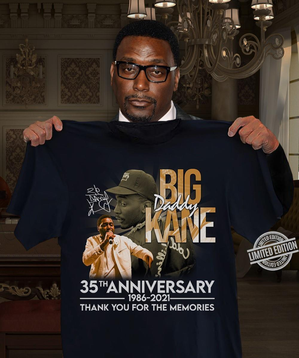 Big Kanne 35th Anniversary 1986 2021 Thank You For The Memories Shirt