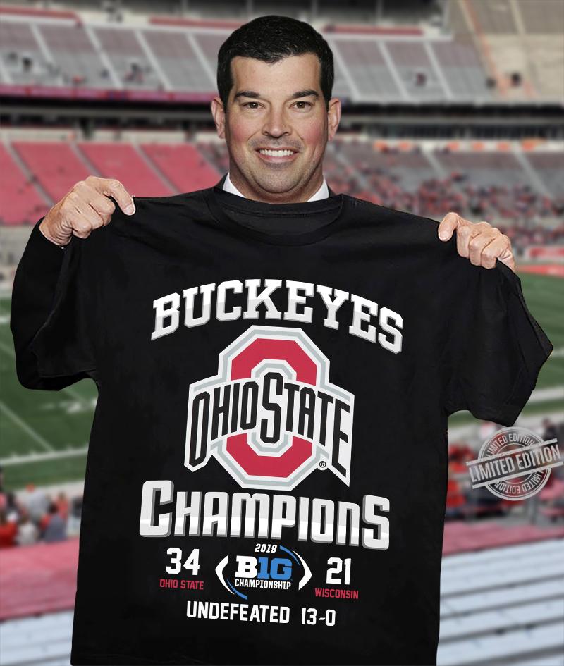 Buckeyes Ohiopions 2019 Big Championship Undefeated Shirt