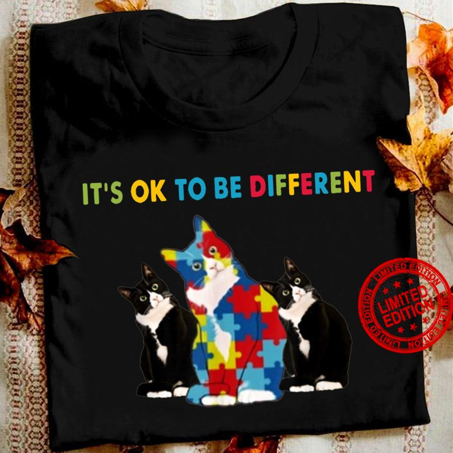 Cat It's Ok To Be Different Shirt