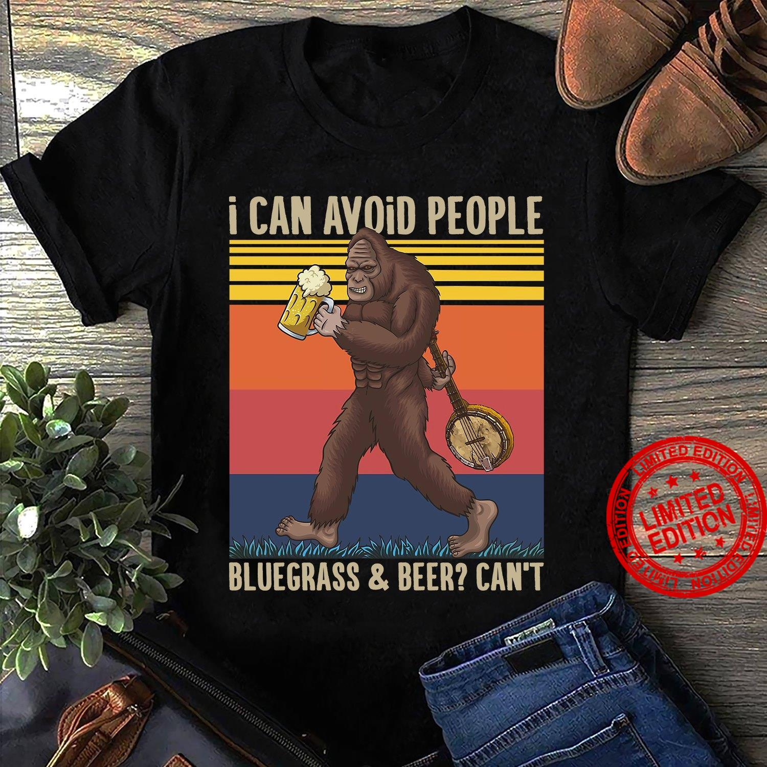 I Can Avoid People Bluegrass & Beer Can't Shirt