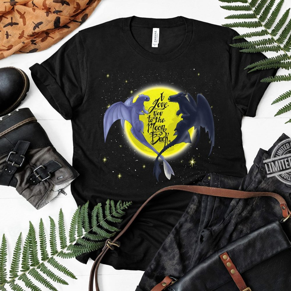 I Love You To The Moon And Back Bats Shirt