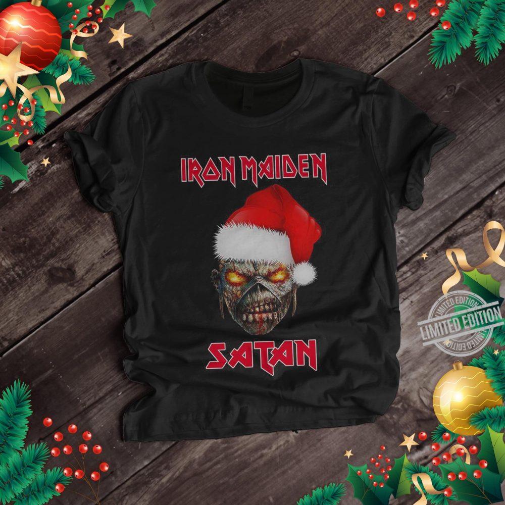 Iron Maiden Satan Merry Christmas Shirt