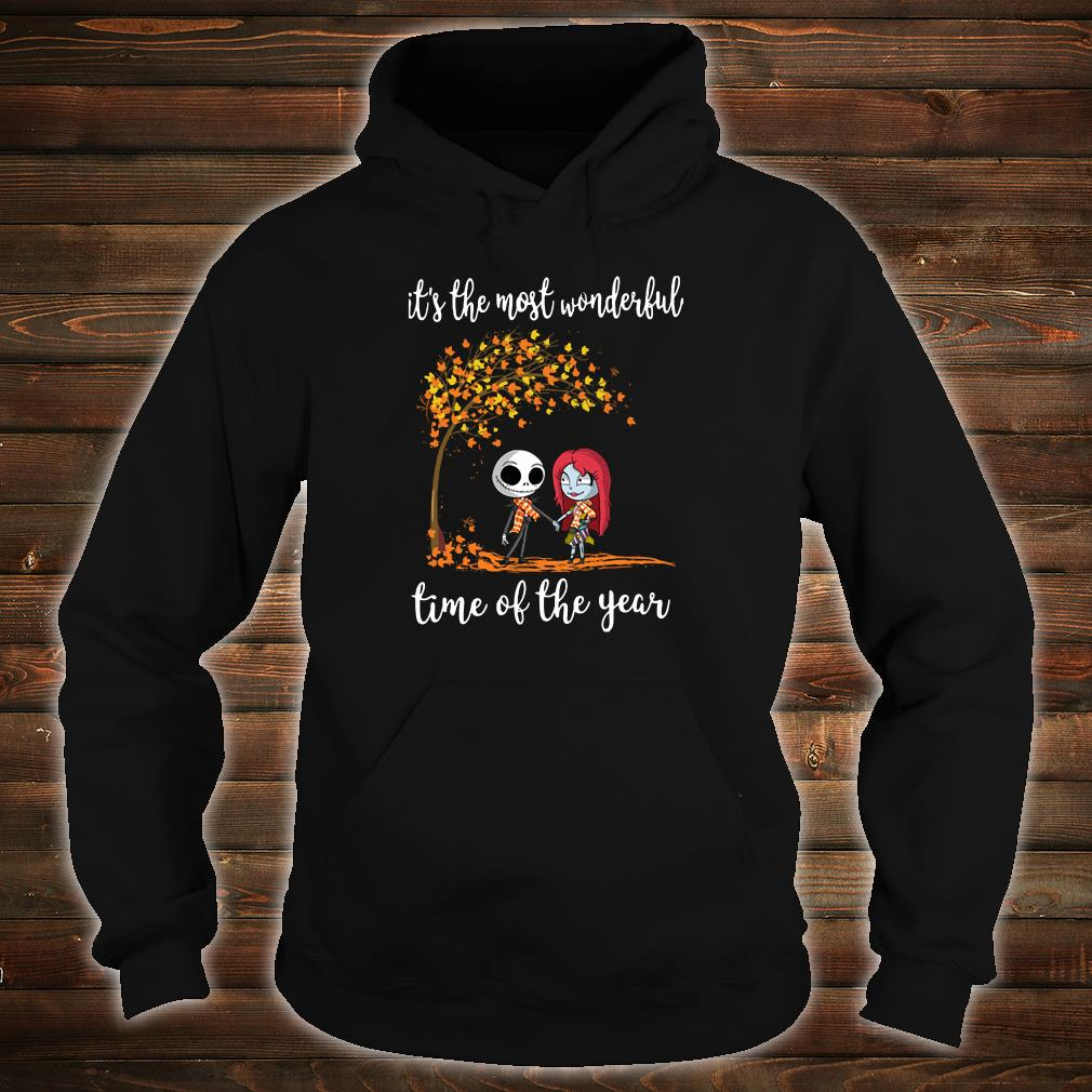 Jack Skellington and his girlfriend it the most wonderful time of the year shirt hoodie