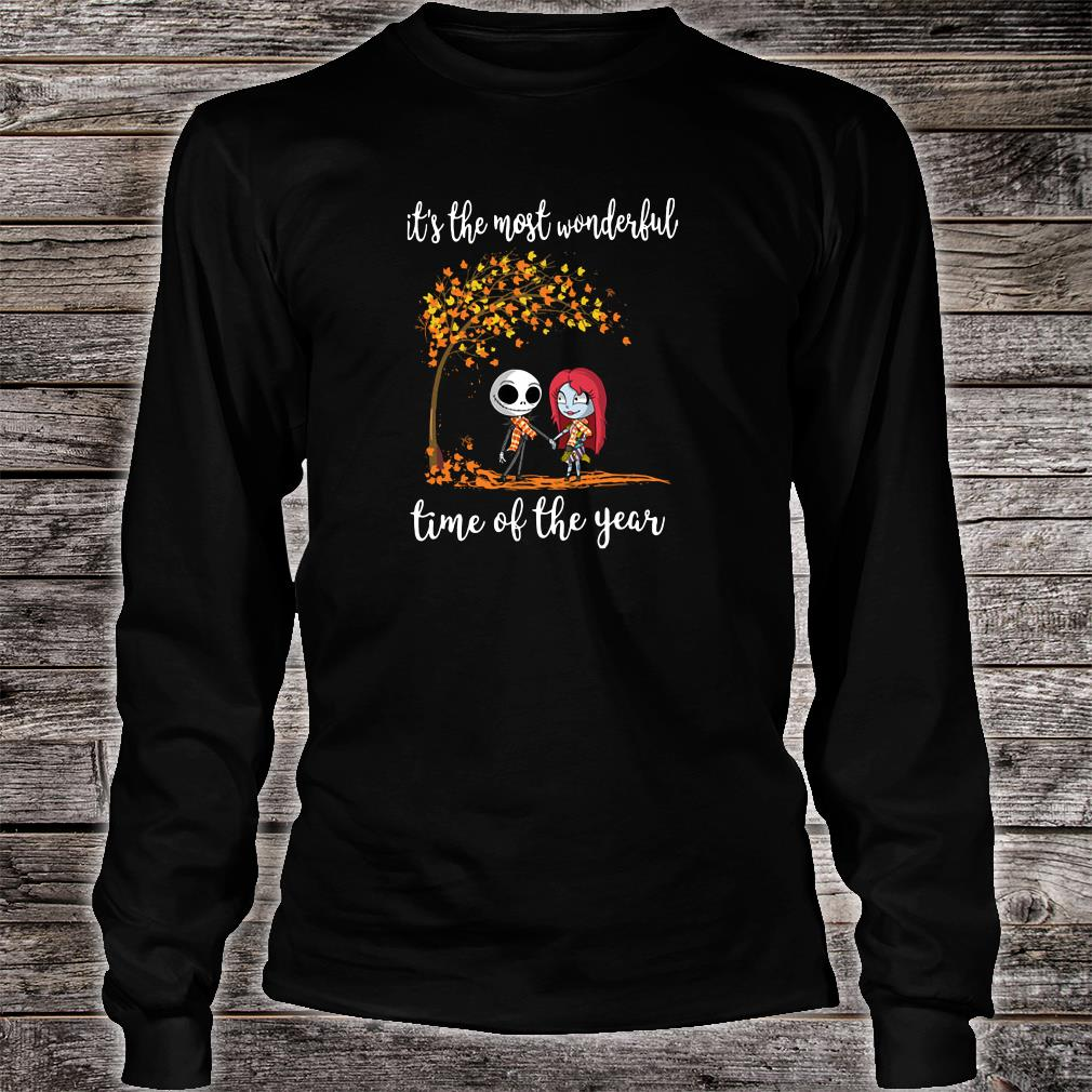 Jack Skellington and his girlfriend it the most wonderful time of the year shirt long sleeved
