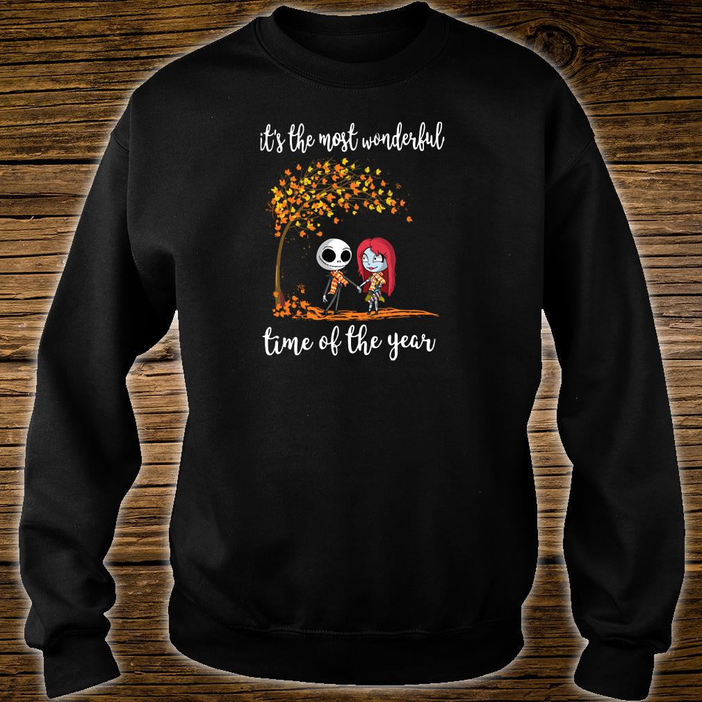 Jack Skellington and his girlfriend it the most wonderful time of the year shirt sweater