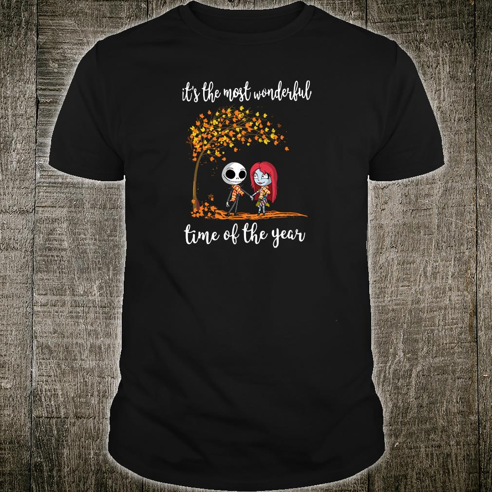 Jack Skellington and his girlfriend it the most wonderful time of the year shirt