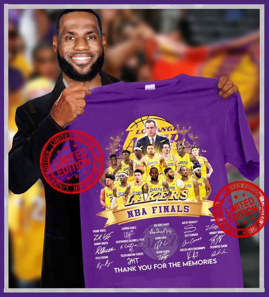 Lakers NBA Finals Thank You For The Memories Shirt