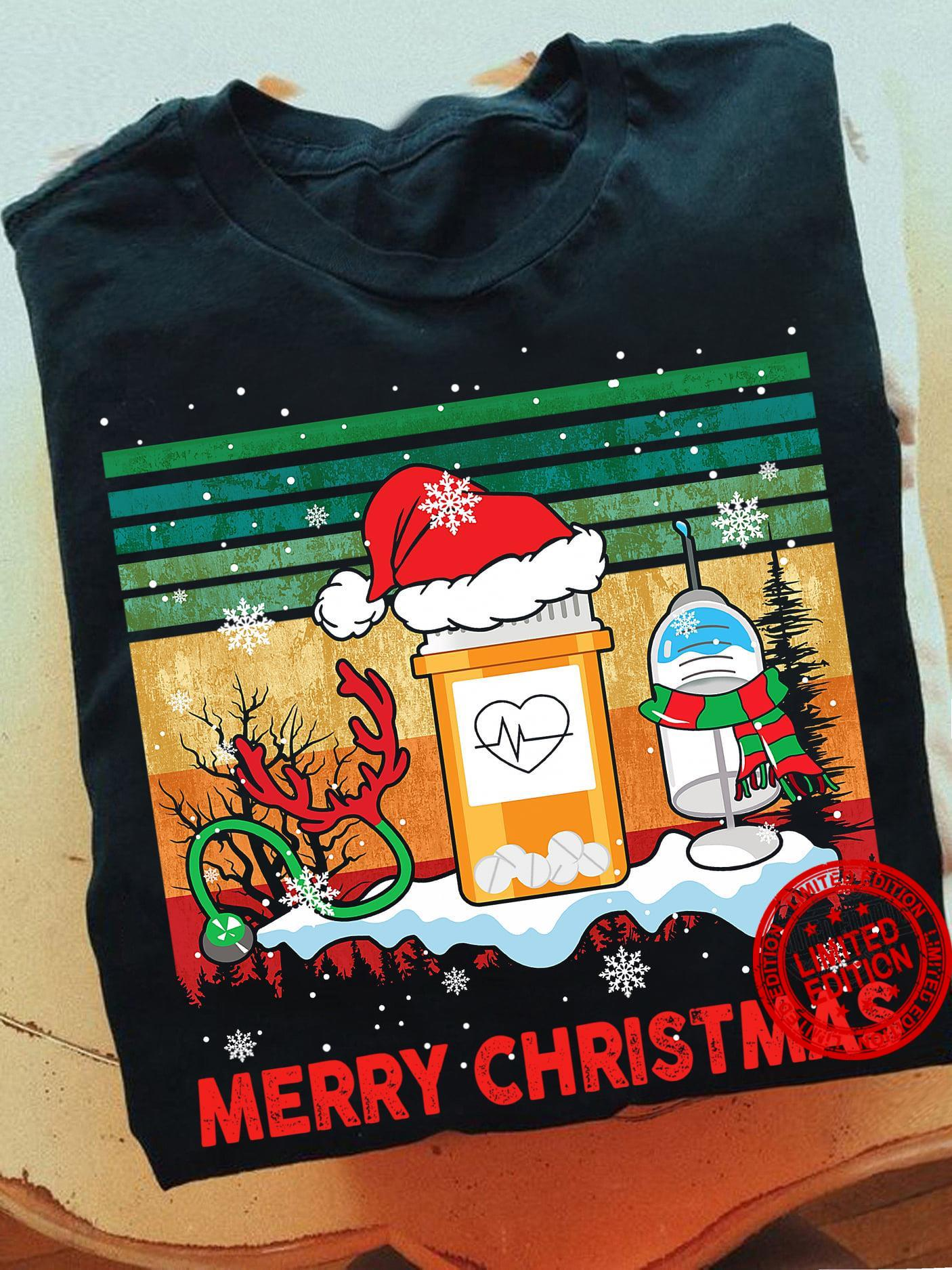 Nurse Merry Christmas Shirt