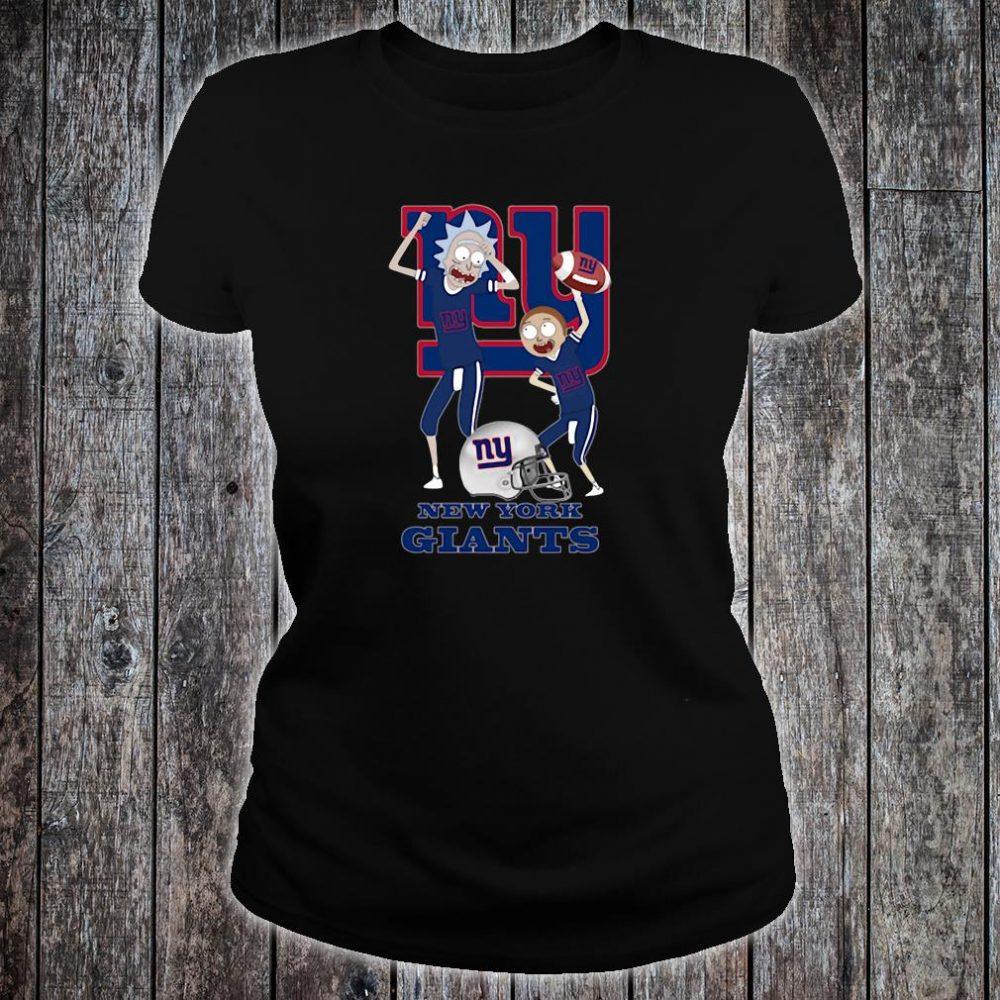 Rick and Morty New York Giants shirt ladies tee