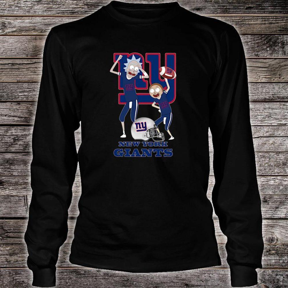 Rick and Morty New York Giants shirt long sleeved