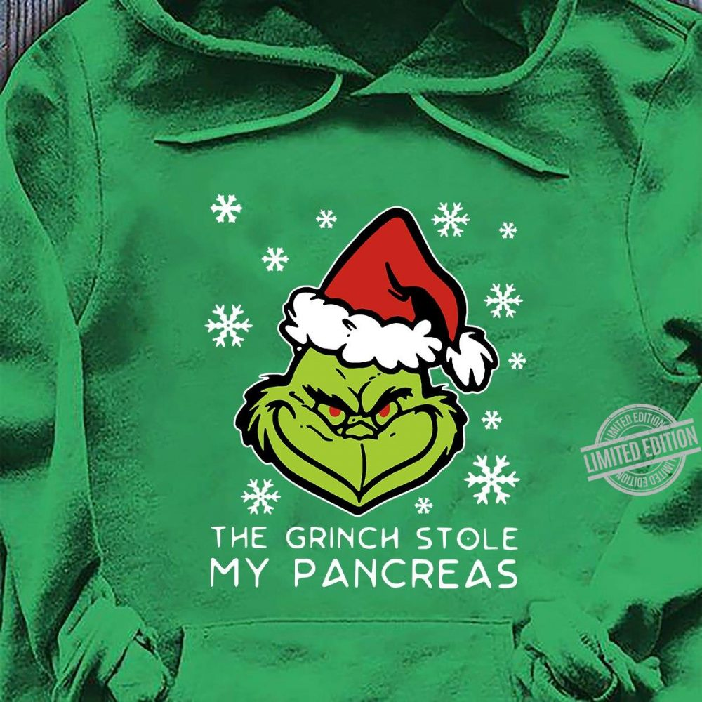 Santa Grinch Face The Grinch StoleMy Pancreas Shirt
